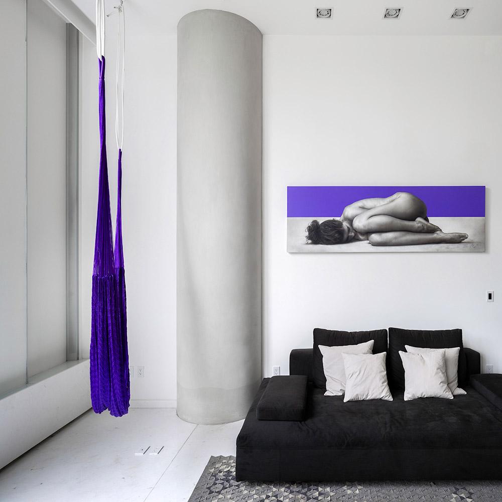 Гостиная студио в однокомнатной квартире, фото