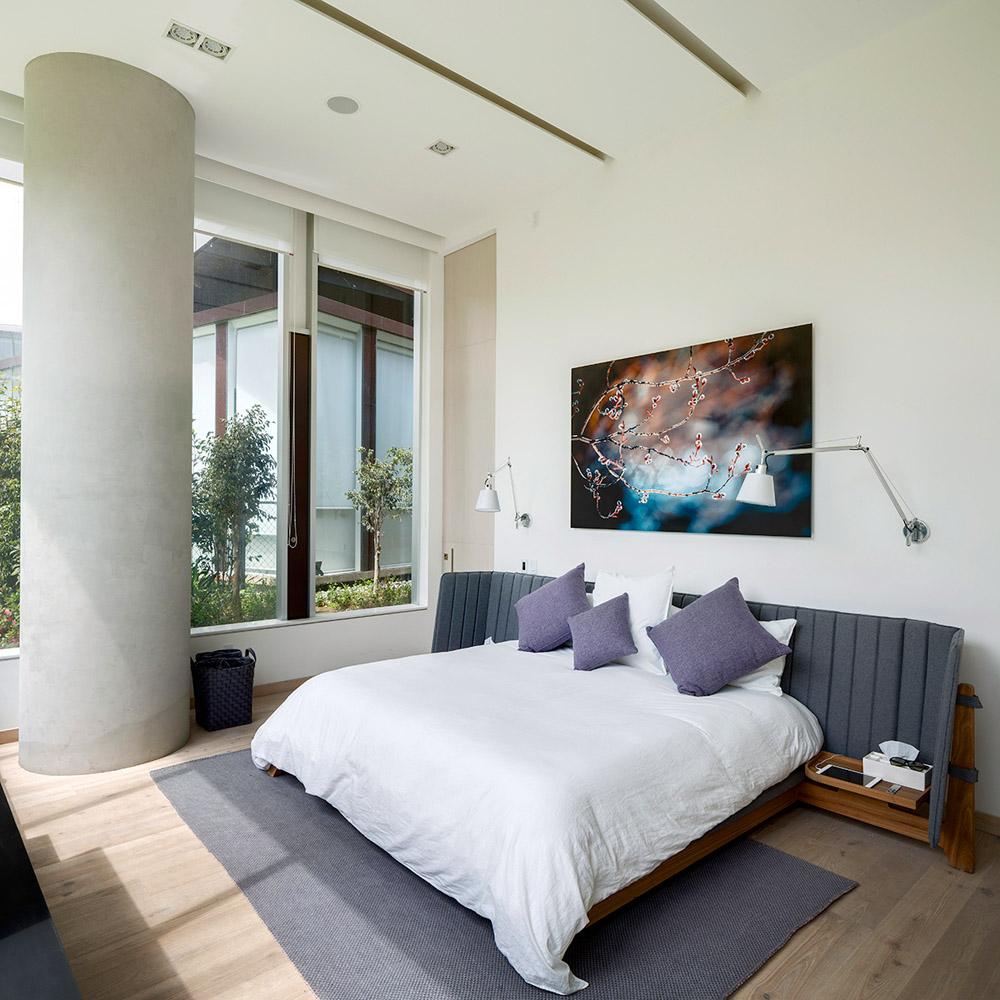 Зонирование спальни в однокомнатной квартире, фото