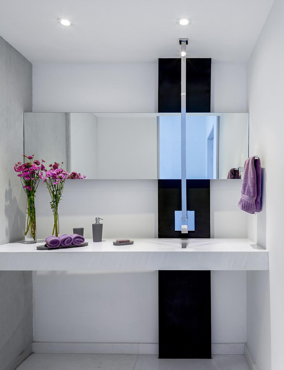 Ванная комната в однокомнатной квартире, фото