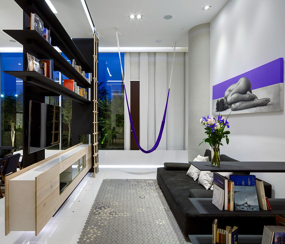 Зонирование гостиной в однокомнатной квартире, фото