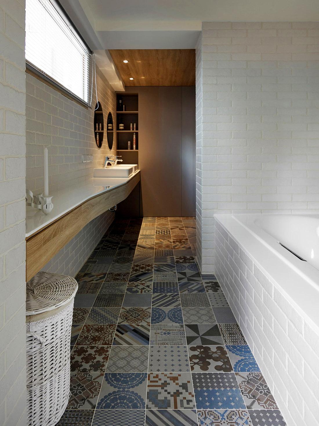Дизайн большой ванной комнаты, фото