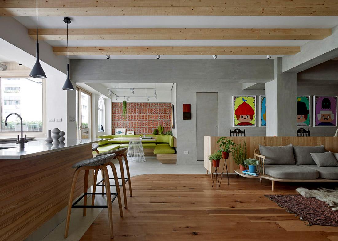 Современная гостиная студио, фото