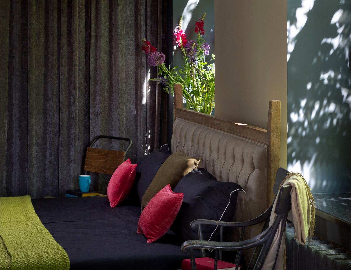 Дизайн спальни в стиле лофт, фото