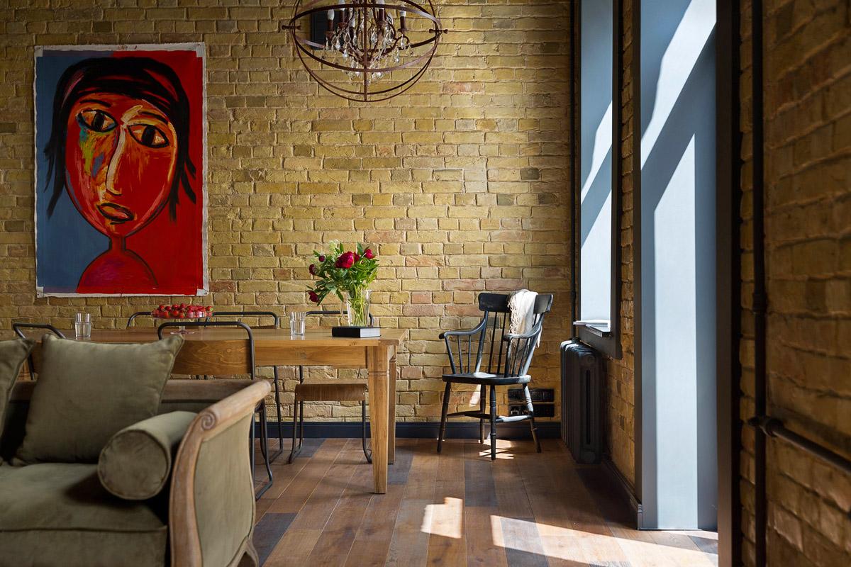 Дизайн интерьера гостиной в стиле лофт, фото