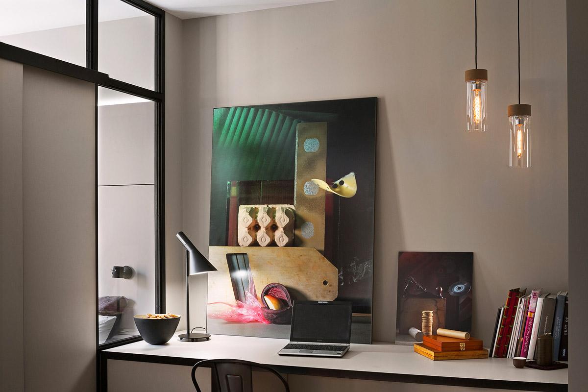 Домашний кабинет, рабочее место дома, дизайн интерьера, Киев, Украина, фото