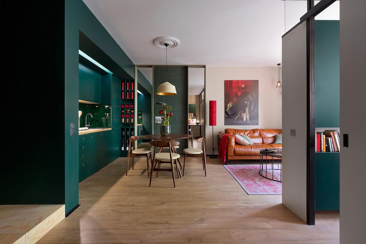 Современный дизайн гостиной в Киеве, фото