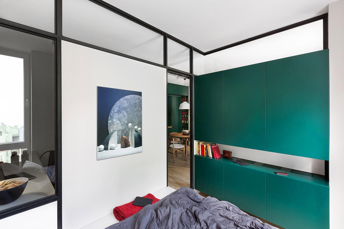 Стиль маленькой спальни, дизайн интерьера, Киев, Украина, фото