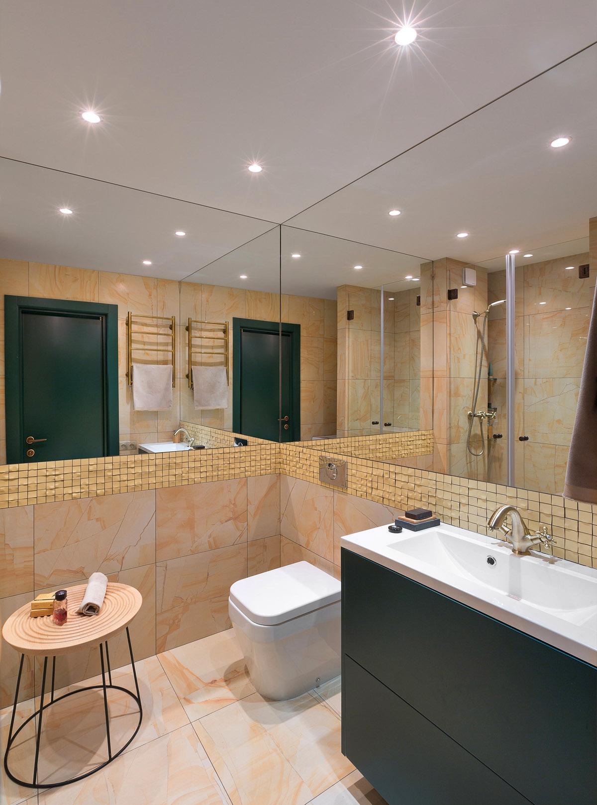 Ванная комната в бежевых тонах, дизайн интерьера, Киев, Украина, фото