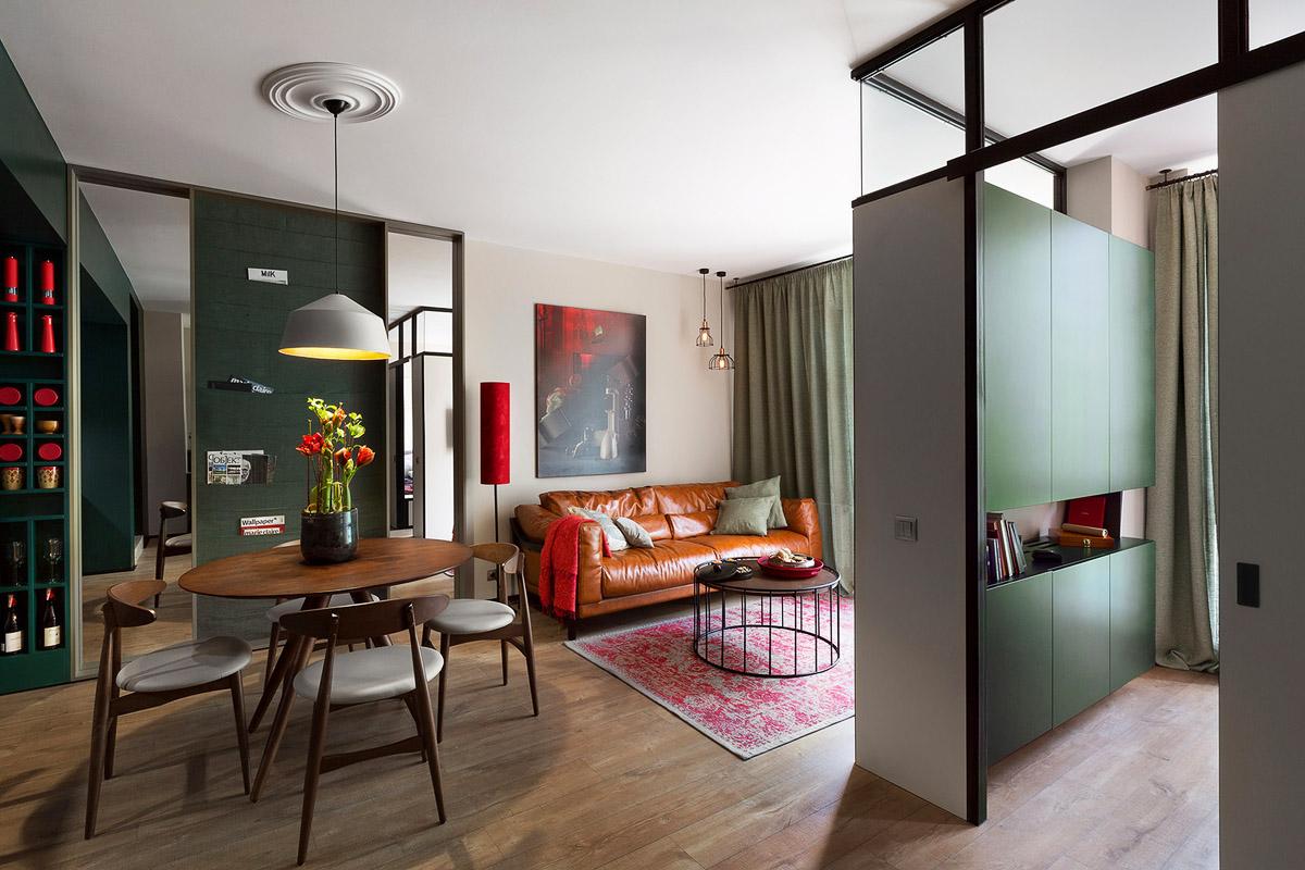 Дизайн гостиной 20 квадратных метров, Киев, Украина, фото