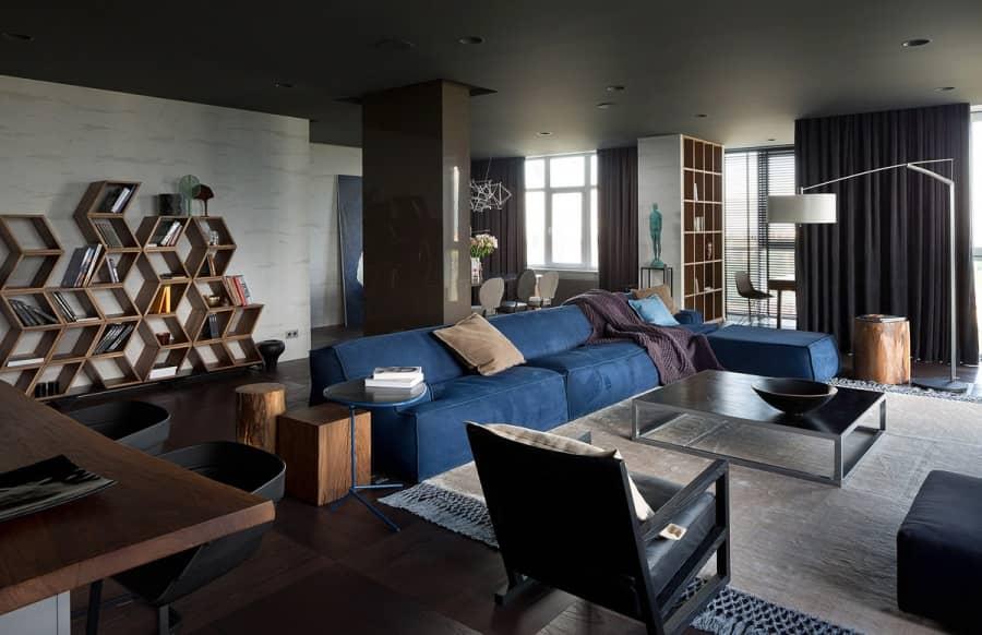 Cosmopolit-Style: современная просторная квартира в Киеве, фото
