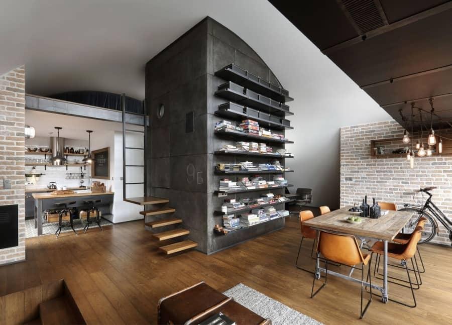Дизайн квартиры в стиле лофт в Болгарии, фото
