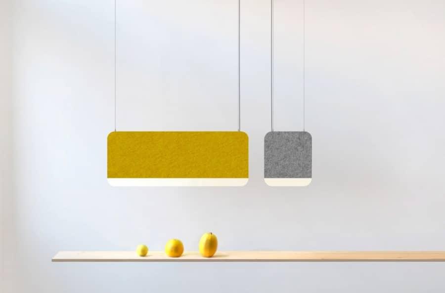 Инновационные декоративные светильники из шерсти и алюминия, фото