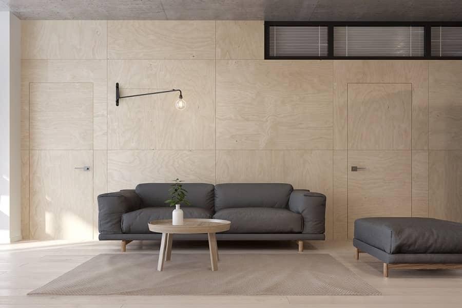 Интерьер квартиры в стиле минимализм для семьи из четырех человек, фото