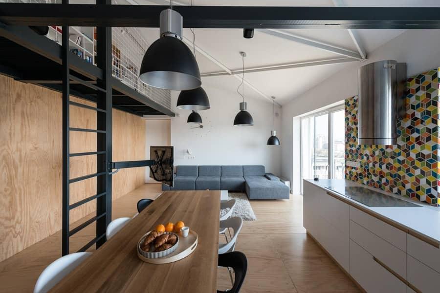 Интерьер в стиле лофт от Rules Architekti, фото