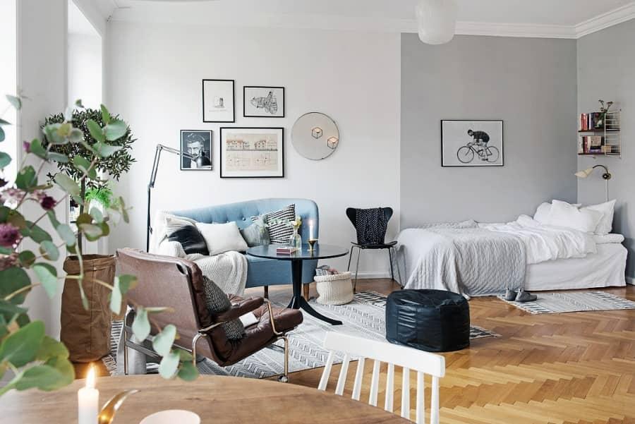 Как сделать однокомнатную квартиру просторной и уютной, фото