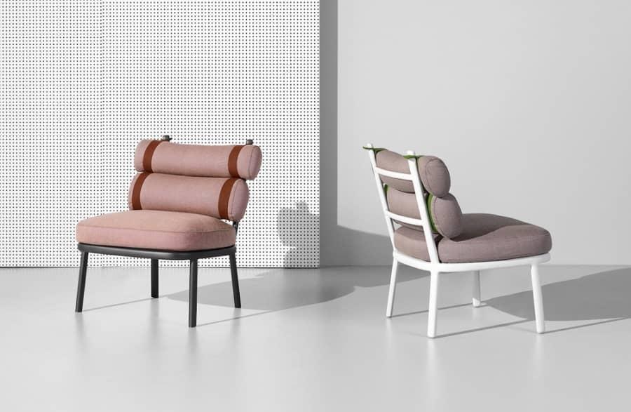 Kettal Roll — коллекция стульев с мягкими рулонными подушками, фото