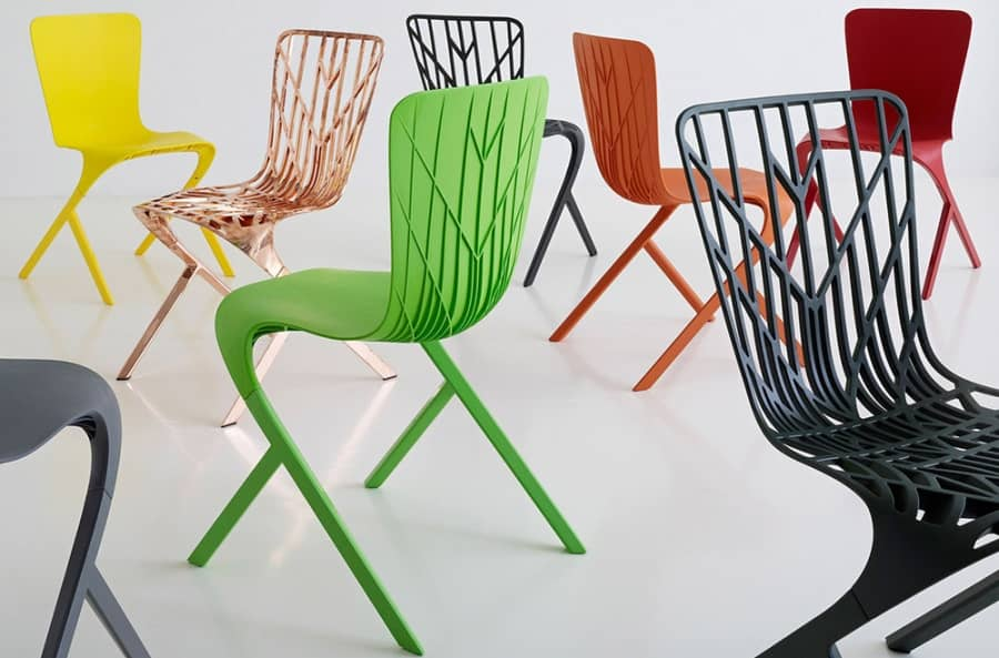 Кожа и кости: пластиковые стулья от Девида Аджайе для бренда Knoll, фото