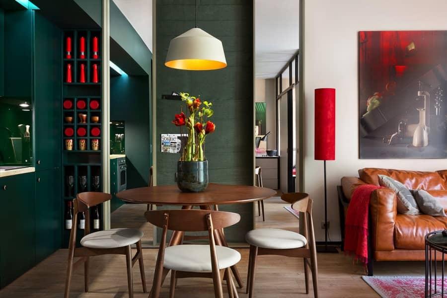Максимальное самовыражение в квартире молодого холостяка от Fateeva Design, фото