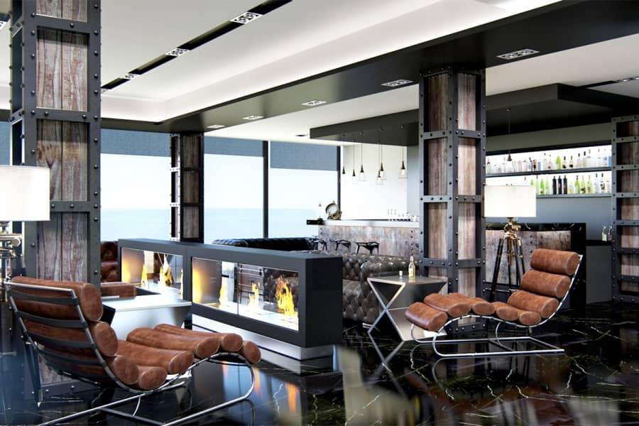М1 club hotel — интерьер первого морского дизайн-курорта в Одессе, фото