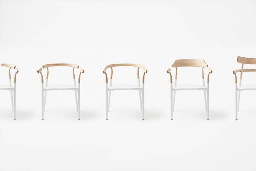 Мебель в стиле минимализм: стулья Twig от Nendo, фото