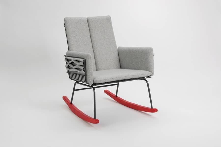 Мягкое кресло-качалка Push из Скандинавии, фото
