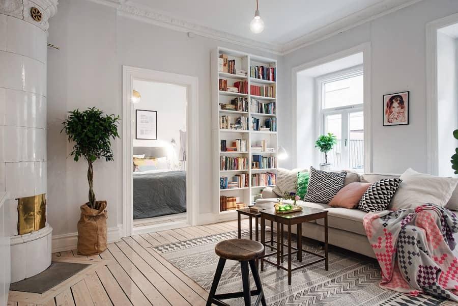 Северная палитра: белый интерьер в скандинавском стиле, фото