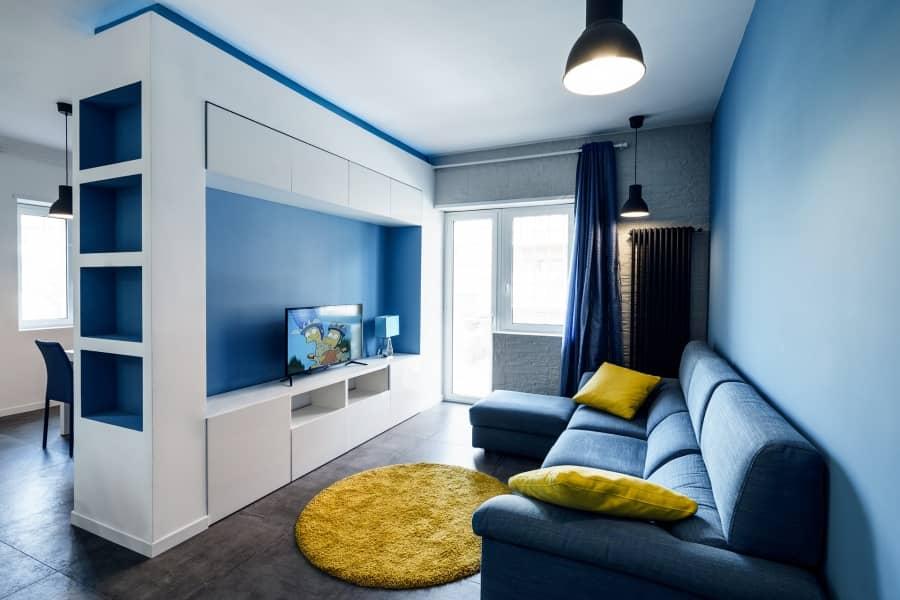 Сквозь призму синего: квартира в Риме от Brain Factory, фото