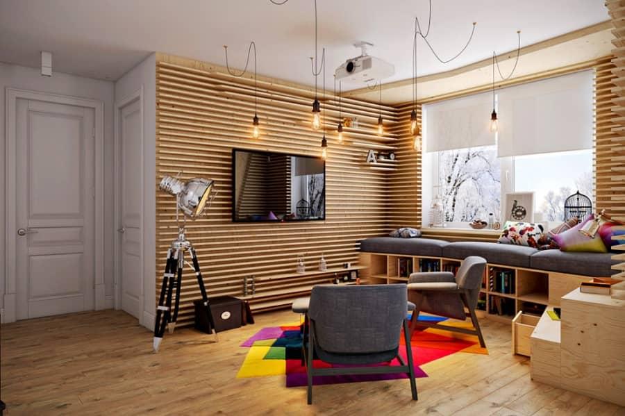 Сочетание серого в интерьере: уютная квартира в скандинавском стиле, фото
