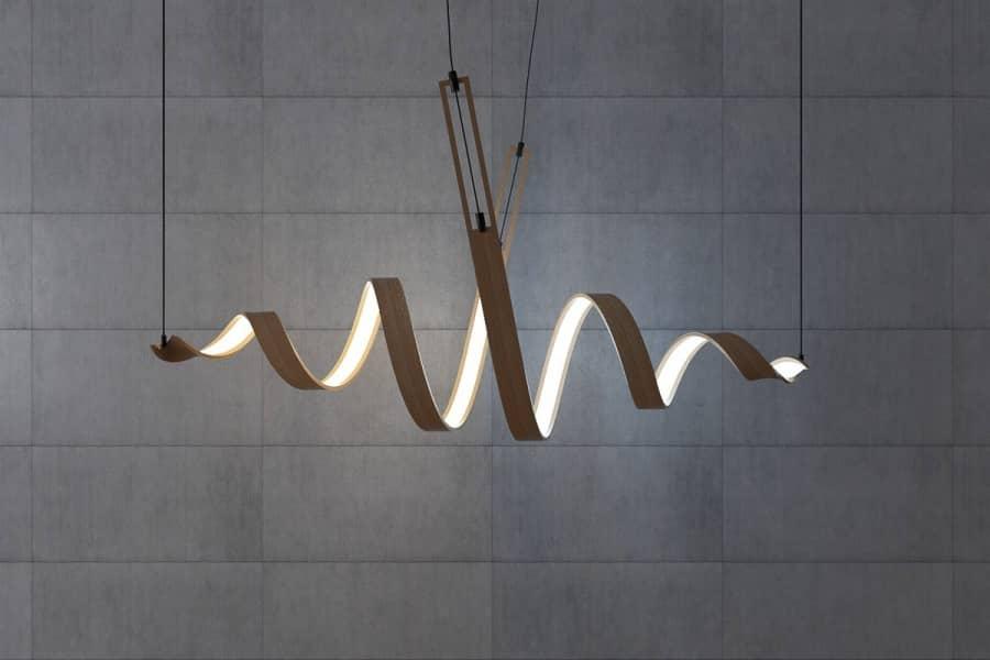 Игра формы и света: спиральные светильники от Андрея Ковальского, фото