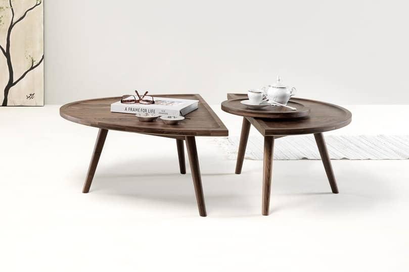 Журнальный столик из дерева — два в одном, фото