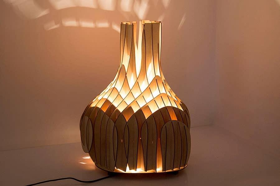 Деревянные светильники из фанеры от Mariam Ayvazyan, фото