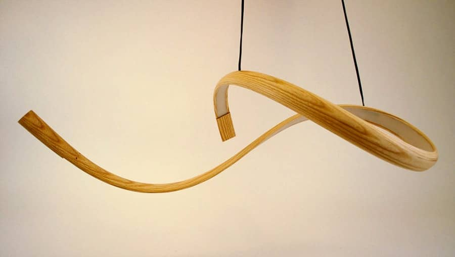 Элегантные светильники из дерева серии Freeform, фото