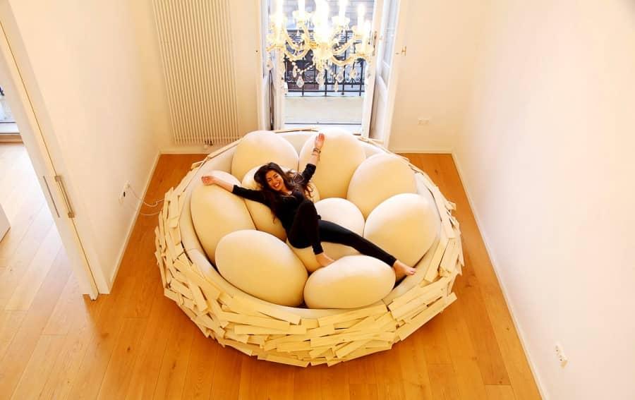 Кресло-гнездо Birdnest от архитектурной компании OGE group, фото