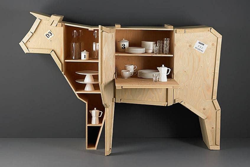 Мебель из фанеры в виде животных, фото
