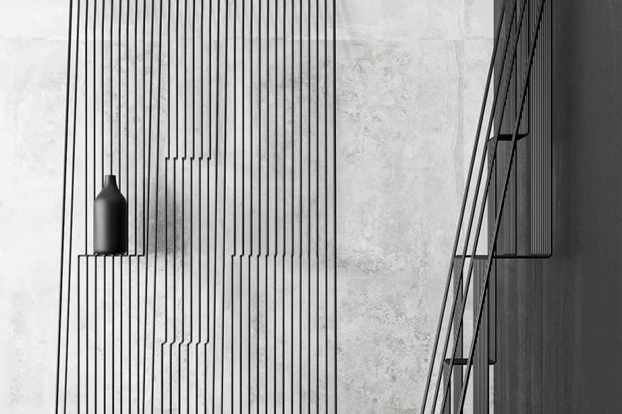 Мебельные фокусы: металлический стеллаж с элементами иллюзии, фото