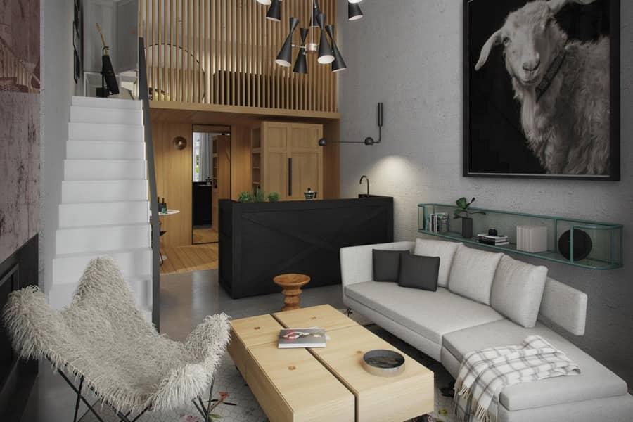 Модная и стильная квартира для молодой пары в Ноттинг Хилл, фото
