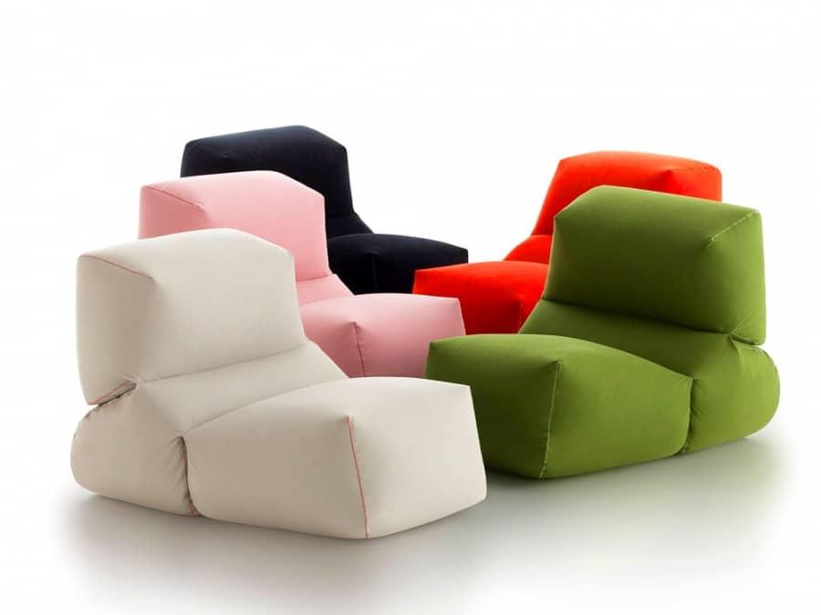 Мягкое кресло GRAPY: бескаркасная мебель от Kensaku Oshiro, фото