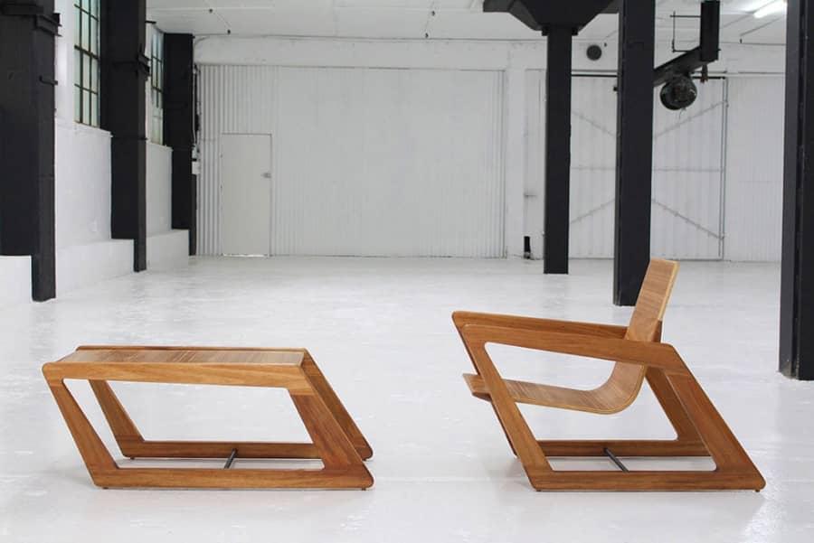 Под наклоном: комплект мебели от Cummins Design Studio, фото