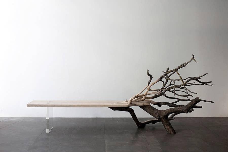 Скамья Fallen Tree: полулавочка-полудерево от Benjamin Graindorge, фото